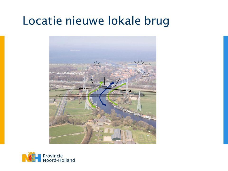 Locatie nieuwe lokale brug