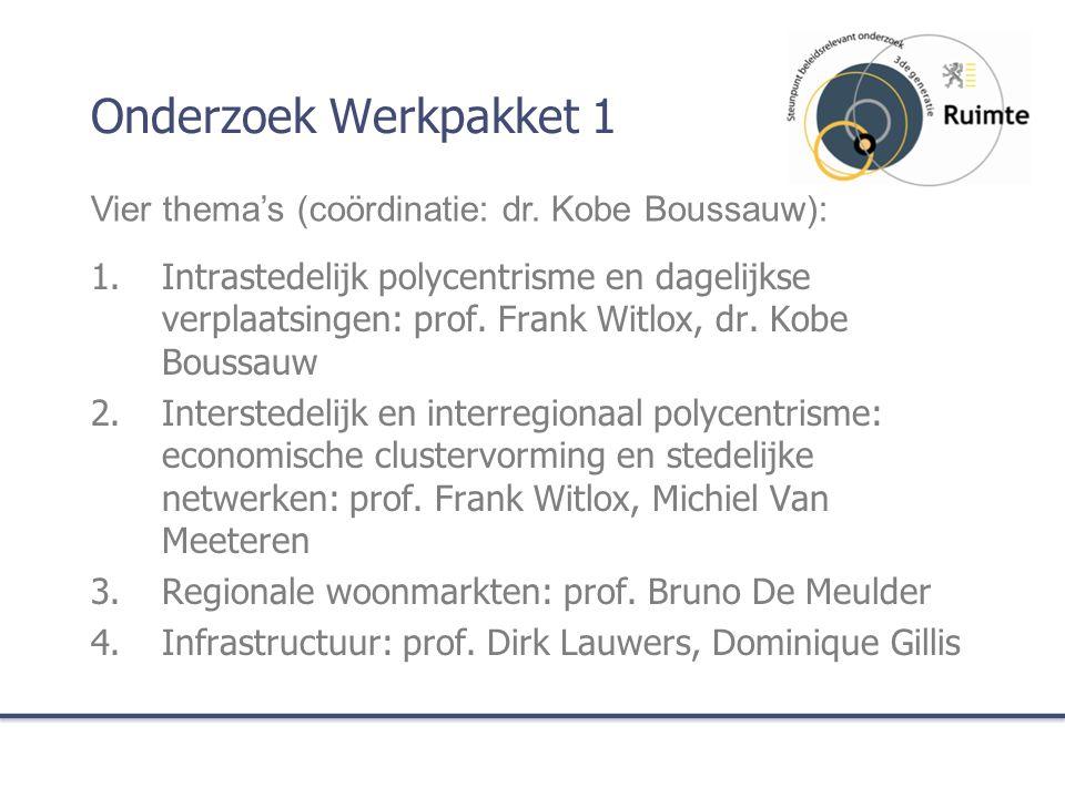 Onderzoek Werkpakket 1 1.Intrastedelijk polycentrisme en dagelijkse verplaatsingen: prof.