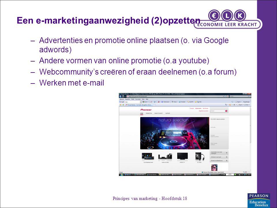 Een e-marketingaanwezigheid (2)opzetten –Advertenties en promotie online plaatsen (o.