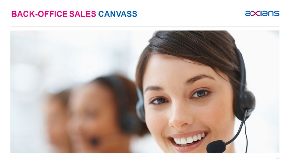 11 BACK-OFFICE SALES CANVASS