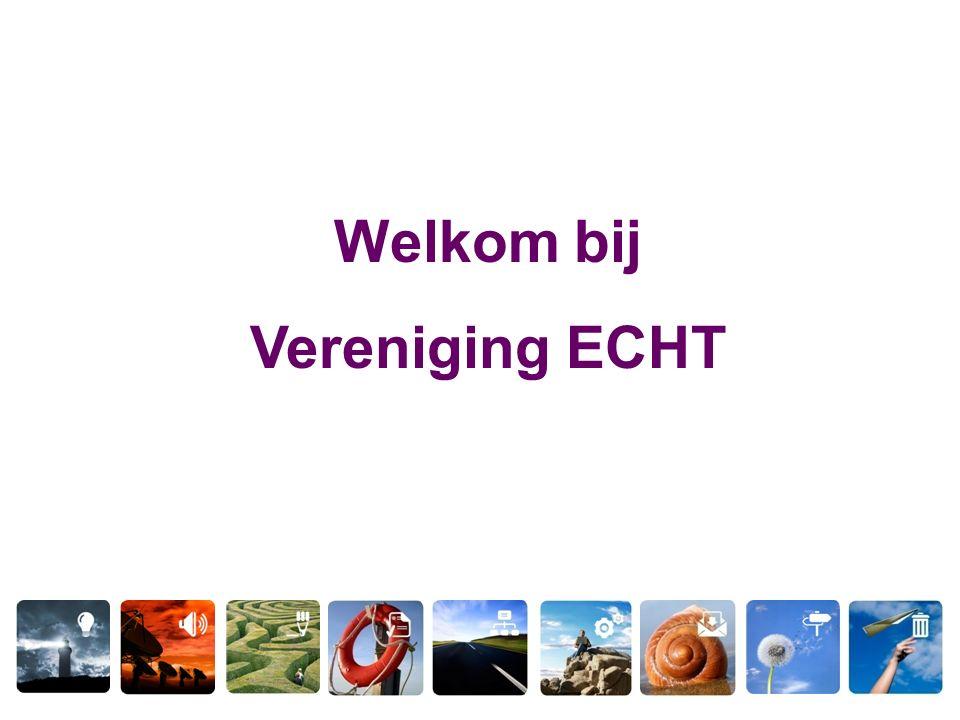 Welkom bij Vereniging ECHT