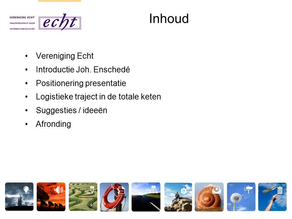 Inhoud Vereniging Echt Introductie Joh.
