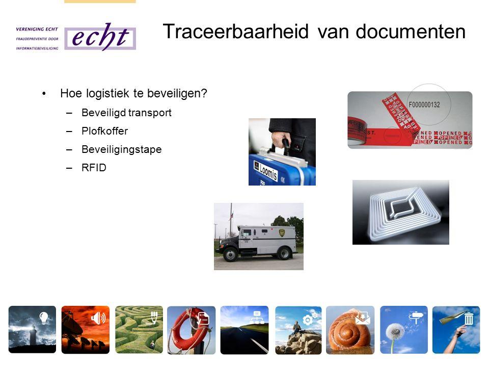 Traceerbaarheid van documenten Hoe logistiek te beveiligen.
