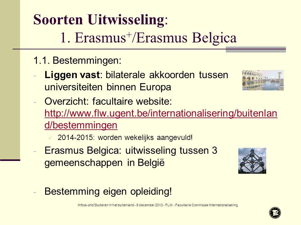Soorten Uitwisseling: 1. Erasmus + /Erasmus Belgica 1.1.
