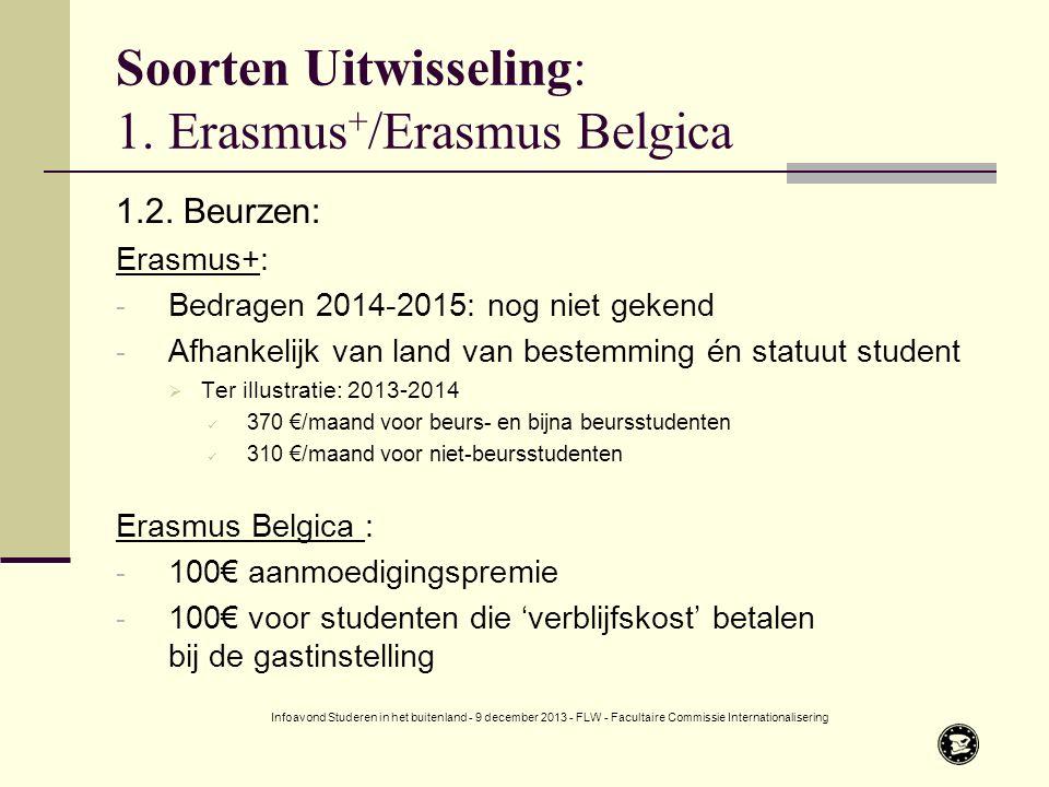 Soorten Uitwisseling: 1. Erasmus + /Erasmus Belgica 1.2.