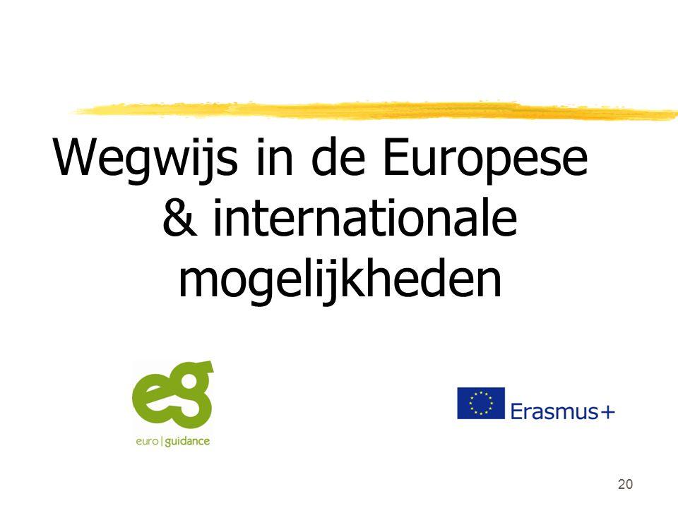 20 Wegwijs in de Europese & internationale mogelijkheden