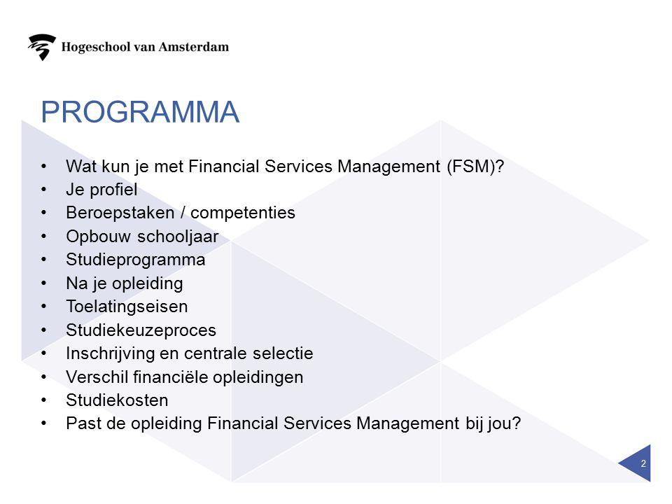FINANCIAL SERVICES MANAGEMENT 23 Vragen.Bedankt en succes bij het maken van de keuze.