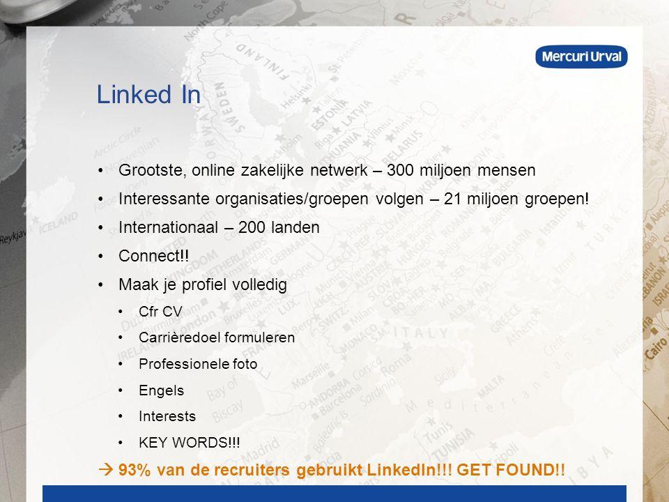 Grootste, online zakelijke netwerk – 300 miljoen mensen Interessante organisaties/groepen volgen – 21 miljoen groepen.