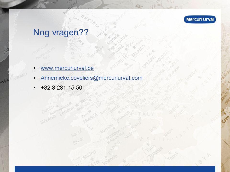 www.mercuriurval.be Annemieke.coveliers@mercuriurval.com +32 3 281 15 50 Nog vragen??
