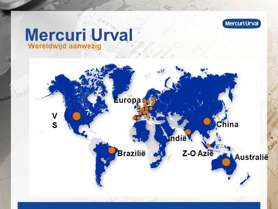 Mercuri Urval Wereldwijd aanwezig Europa VSVS Australië BraziliëZ-O Azië Indië China