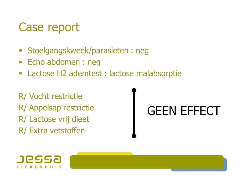 Case report Peuterdiarree ?! Giardiasis Post-infectieuze diarree Lactose intolerantie