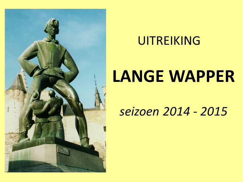 UITREIKING LANGE WAPPER seizoen 2014 - 2015
