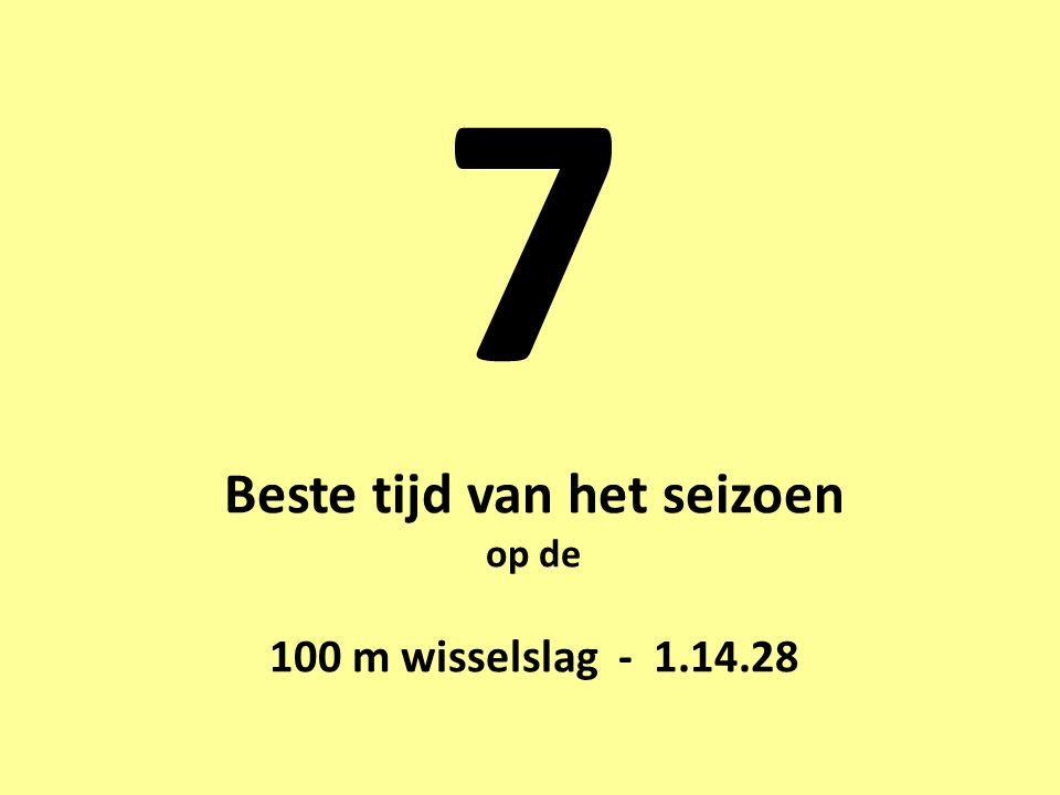 7 Beste tijd van het seizoen op de 100 m wisselslag - 1.14.28