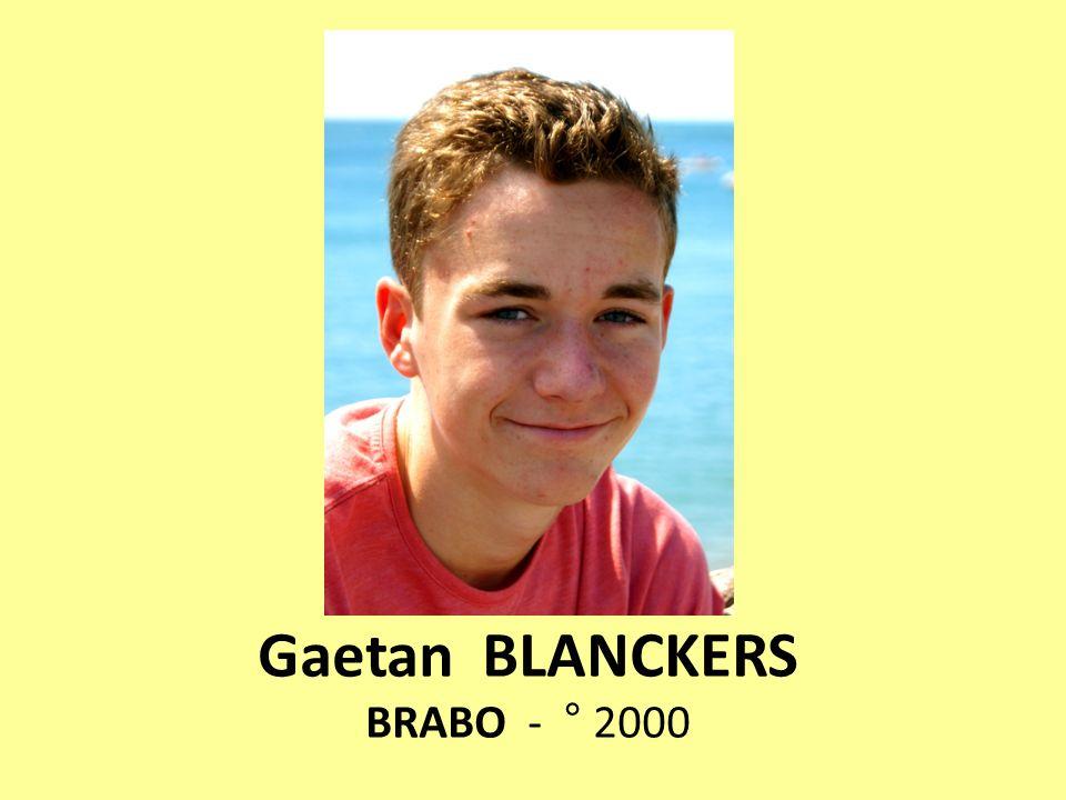 Gaetan BLANCKERS BRABO - ° 2000