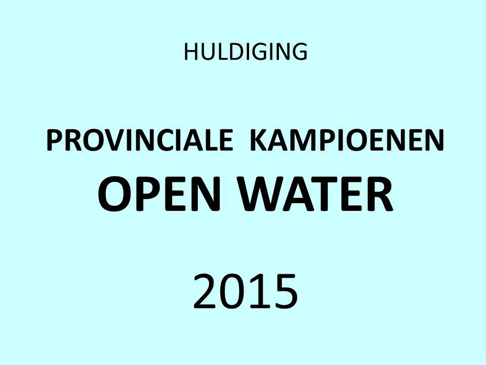 HULDIGING PROVINCIALE KAMPIOENEN OPEN WATER 2015