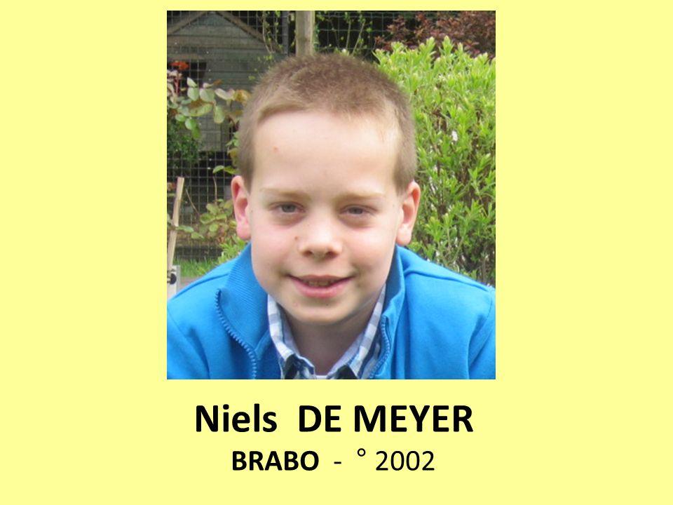 Niels DE MEYER BRABO - ° 2002