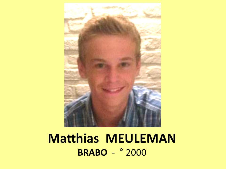 Matthias MEULEMAN BRABO - ° 2000