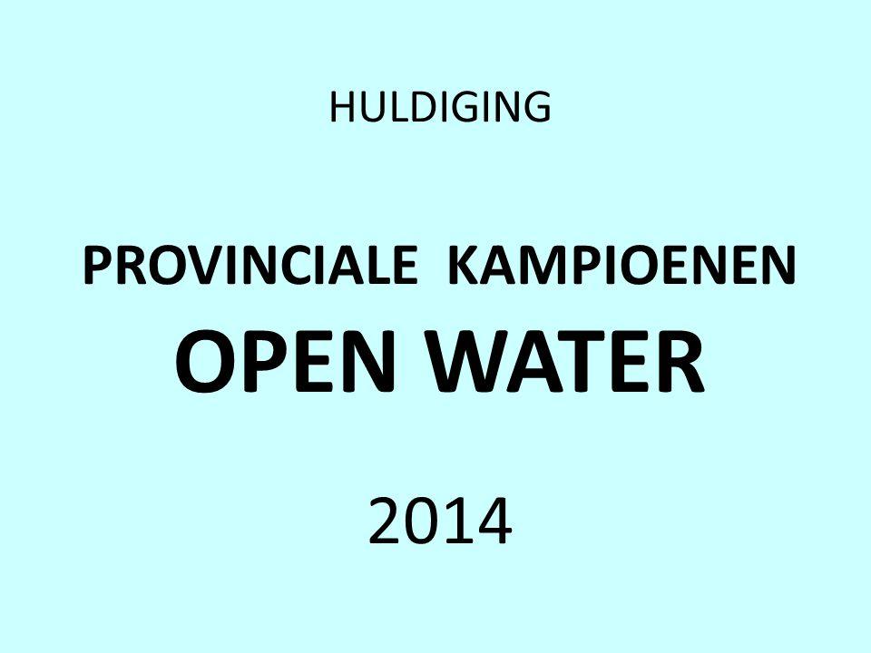 HULDIGING PROVINCIALE KAMPIOENEN OPEN WATER 2014