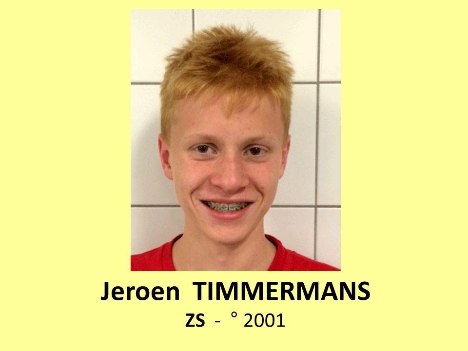 Jeroen TIMMERMANS ZS - ° 2001