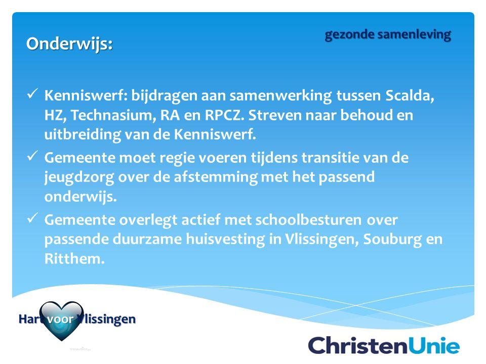 Onderwijs: Kenniswerf: bijdragen aan samenwerking tussen Scalda, HZ, Technasium, RA en RPCZ.