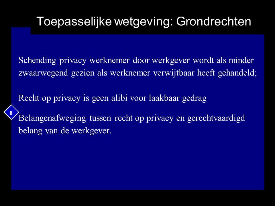 19 Observatie in privacygedragscode Definitie via art.