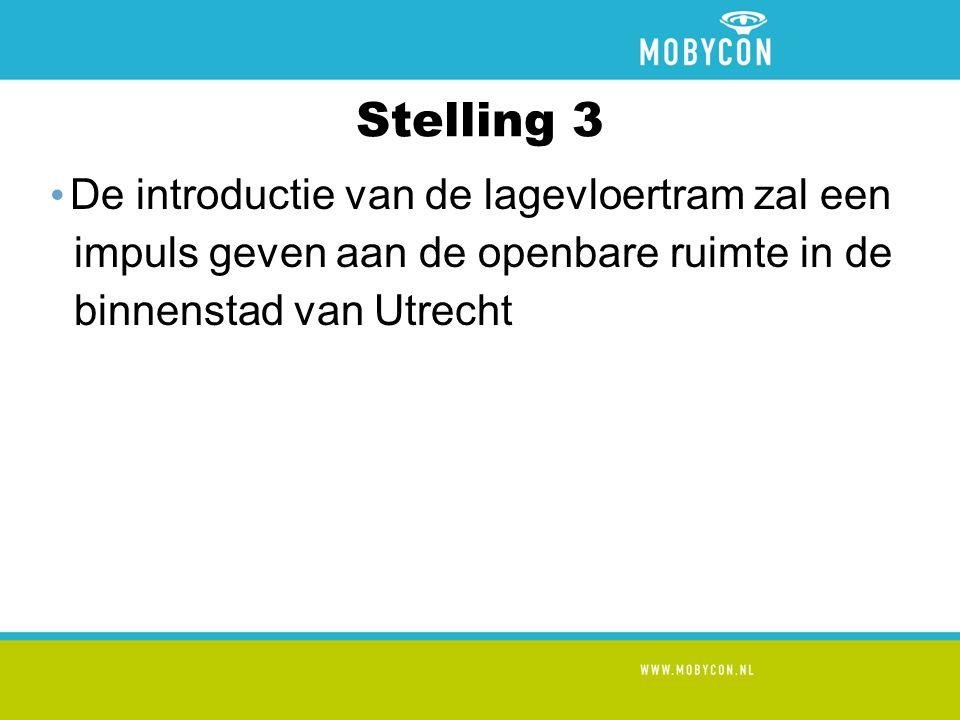 Stelling 2 De introductie van de tram gaat ten koste van de sociale functie van het openbaar vervoer