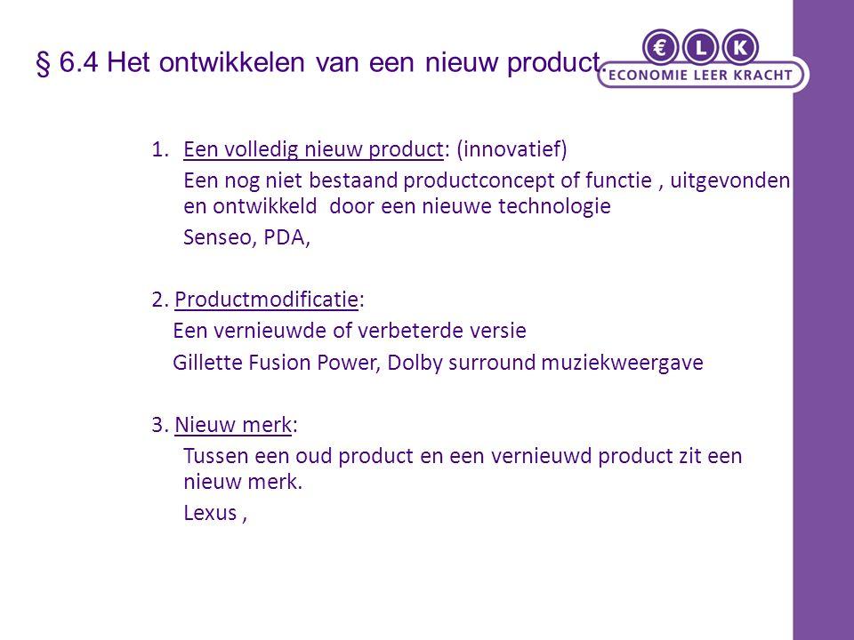 § 6.4 Het ontwikkelen van een nieuw product.