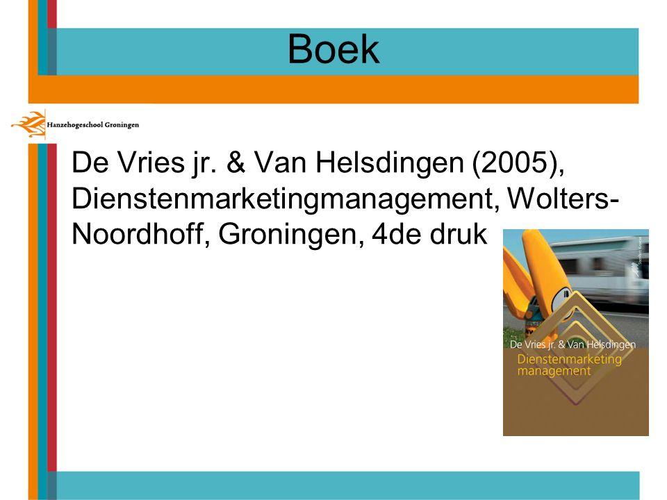 Planning/tentamenstof Instituut voor Bedrijfskunde CollegeOnderwerpenHoofdstukken boek 1Strategie  Wat is dienstenmarketingmanagement.