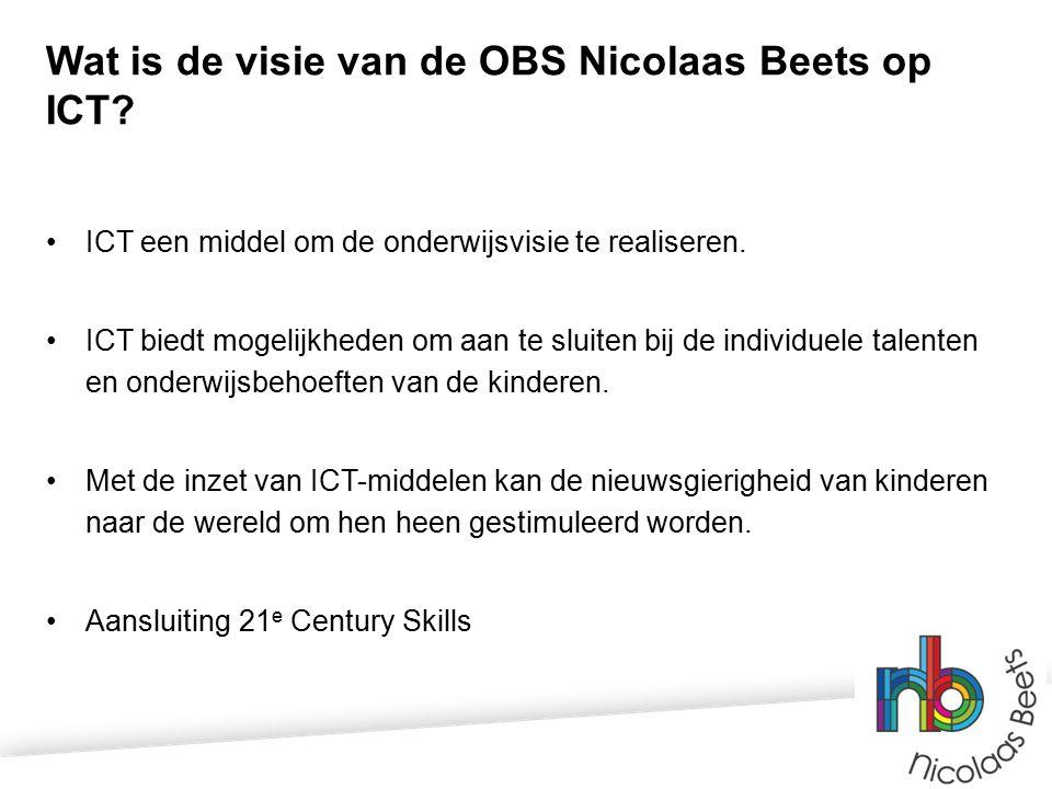 Wat is de visie van de OBS Nicolaas Beets op ICT.