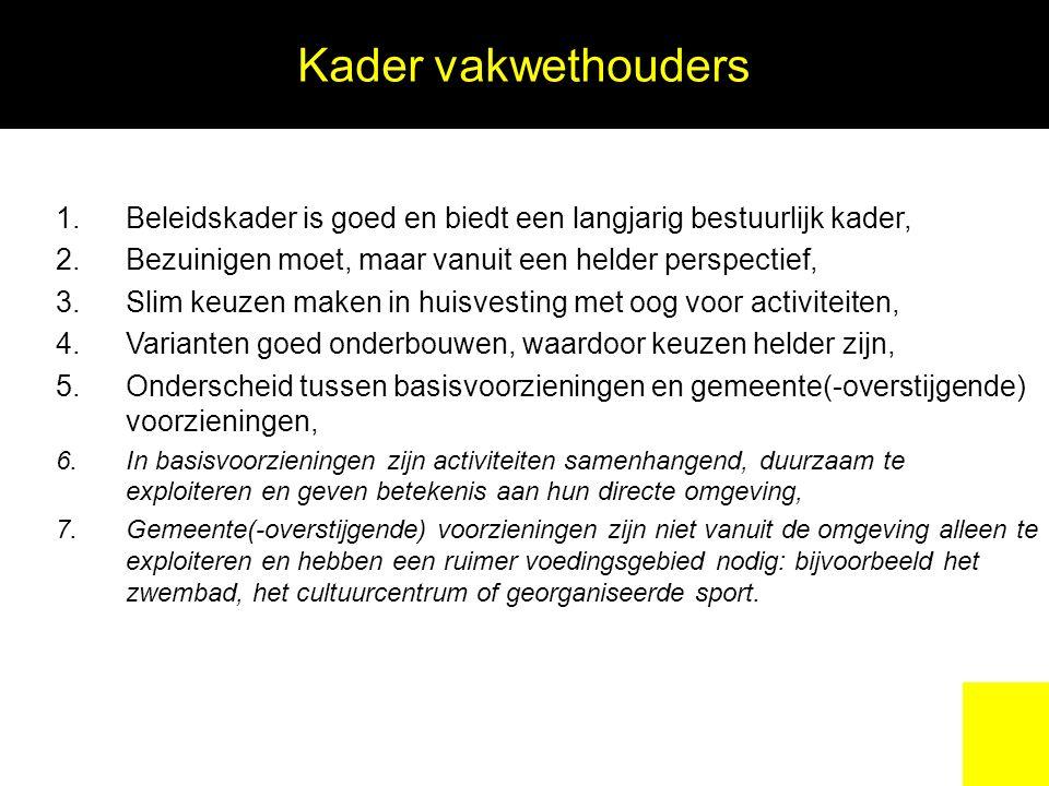 Gemeente (-overstijgende) voorzieningen ProjectKostendrager investeringKostendrager Exploitatie Sluiten of beperkte renovatie zwembad de Wildert.