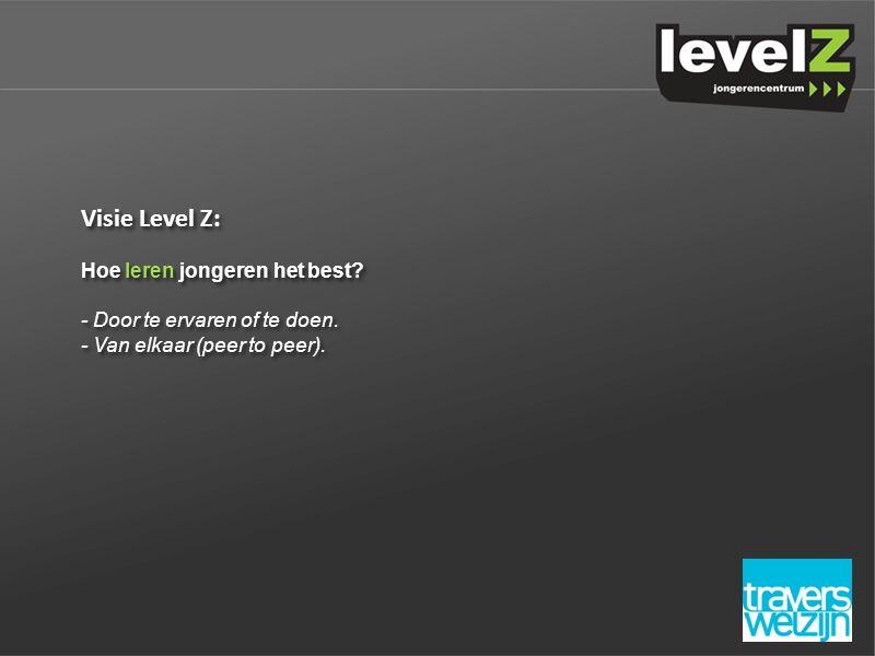 Visie Level Z: Hoe leren jongeren het best. - Door te ervaren of te doen.