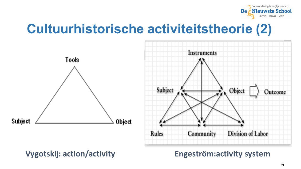 Cultuurhistorische activiteitstheorie (2) –Johnny Appleseed Typ hier een citaat. Vygotskij: action/activityEngeström:activity system 6