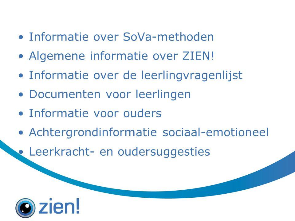 Informatie over SoVa-methoden Algemene informatie over ZIEN.