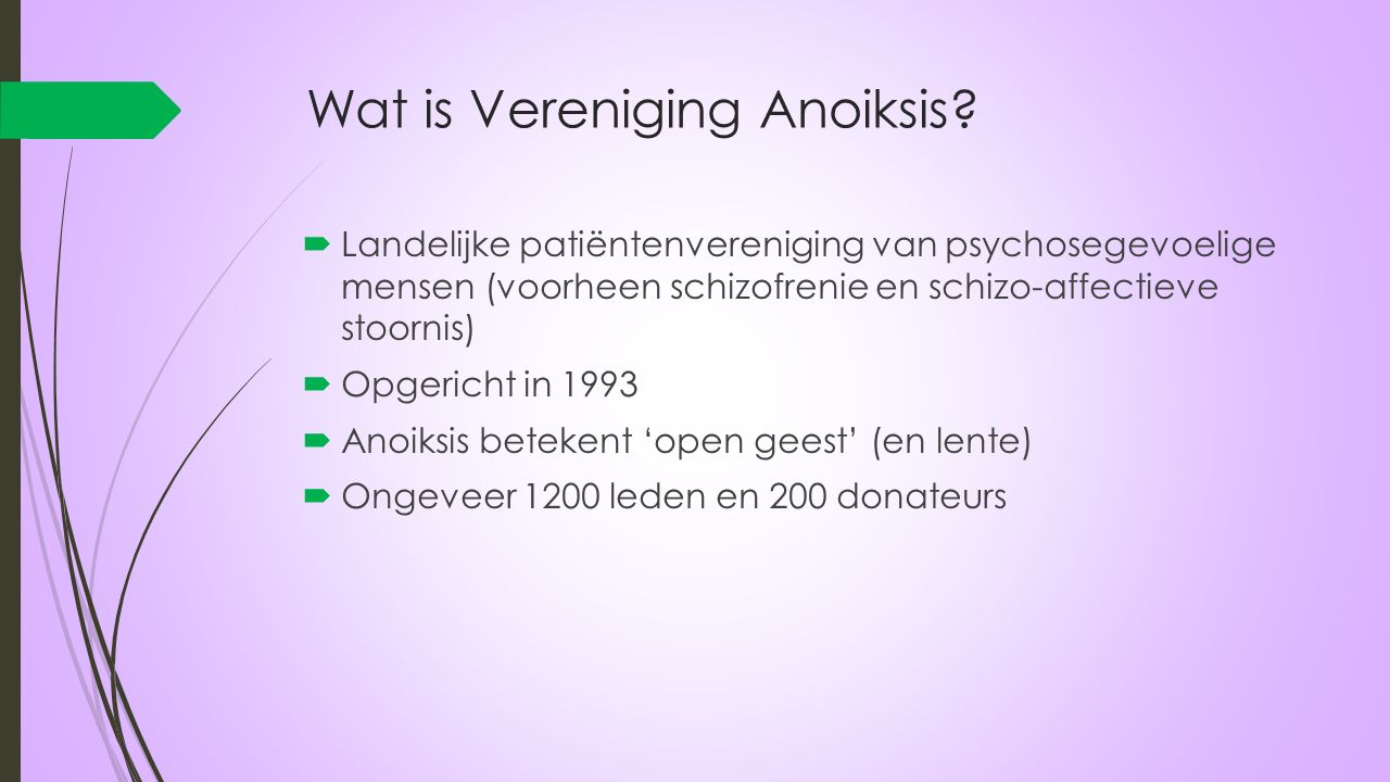 Wat doet Vereniging Anoiksis.