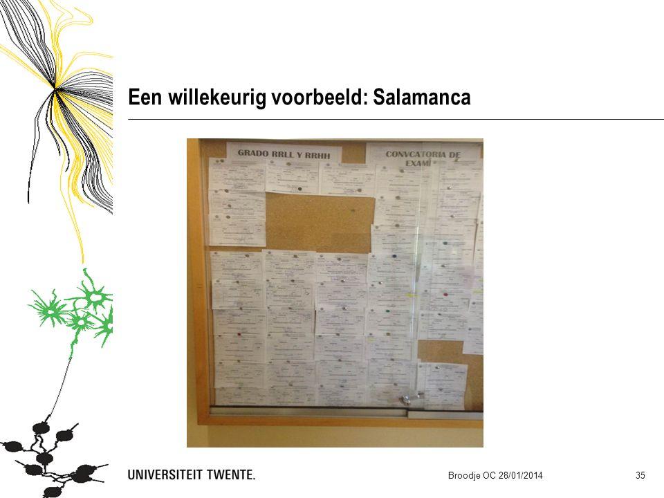 Een willekeurig voorbeeld: Salamanca Broodje OC 28/01/2014 35