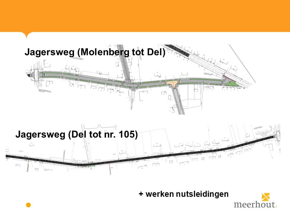 Jagersweg (Molenberg tot Del) Jagersweg (Del tot nr. 105) + werken nutsleidingen