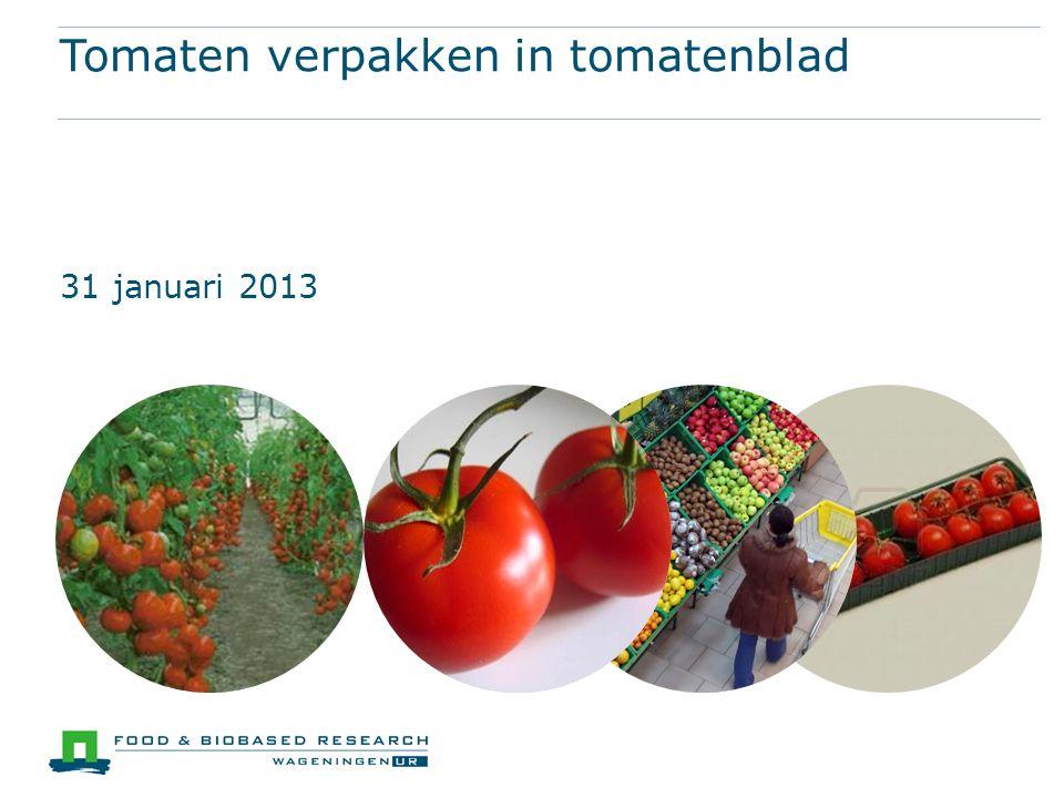 Tomaten verpakken in tomatenblad 31 januari 2013