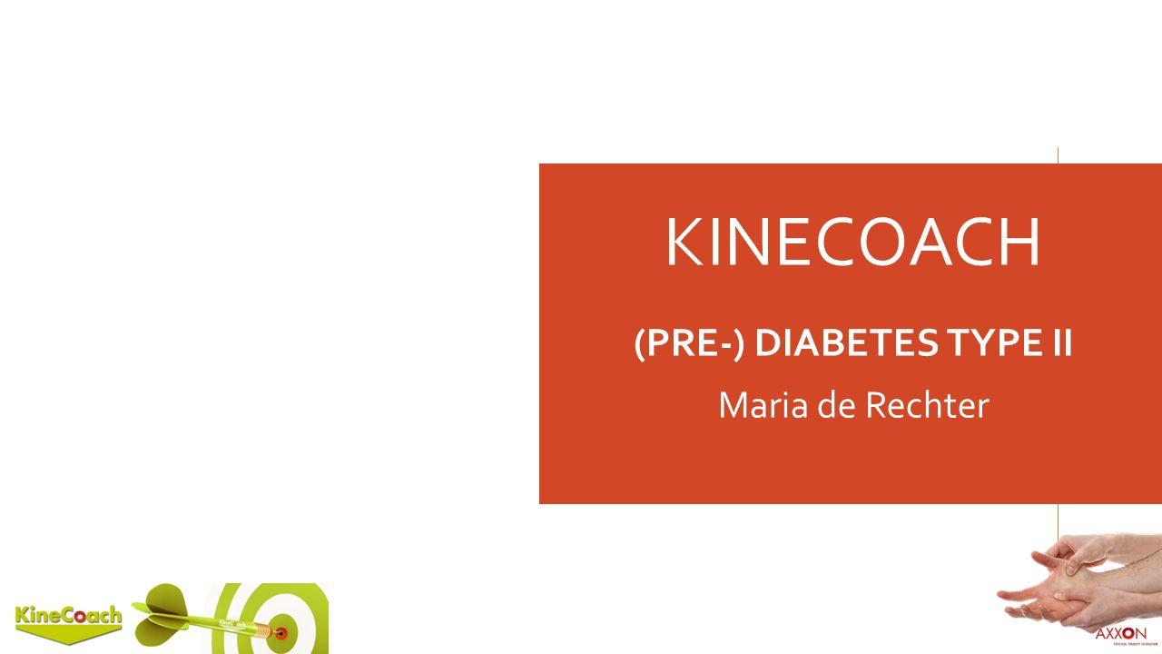 KINECOACH (PRE-) DIABETES TYPE II Maria de Rechter