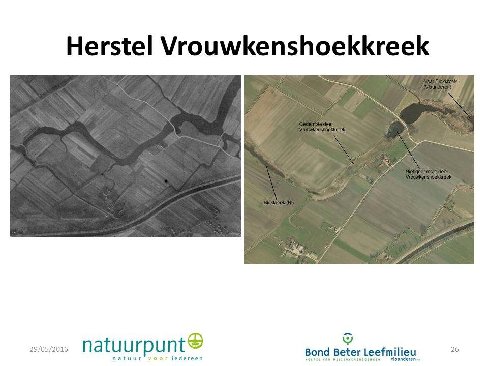 Herstel Vrouwkenshoekkreek 29/05/201626