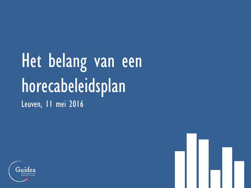 Het belang van een horecabeleidsplan Leuven, 11 mei 2016