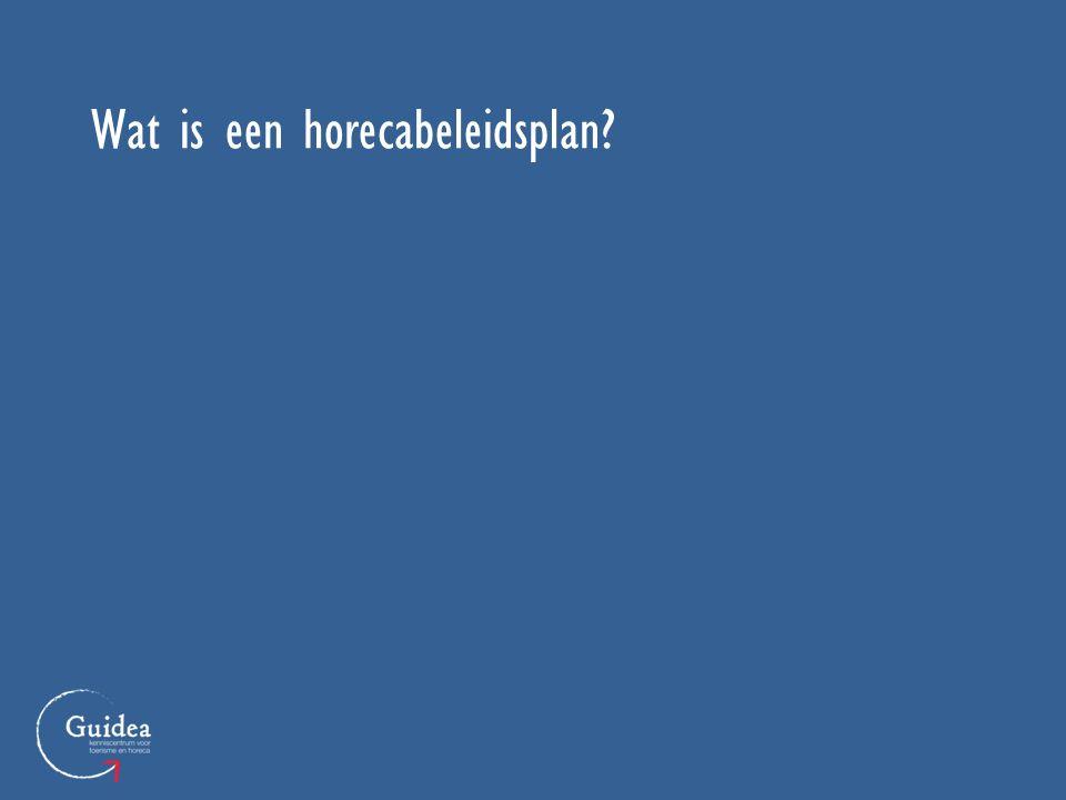 Wat is een horecabeleidsplan?