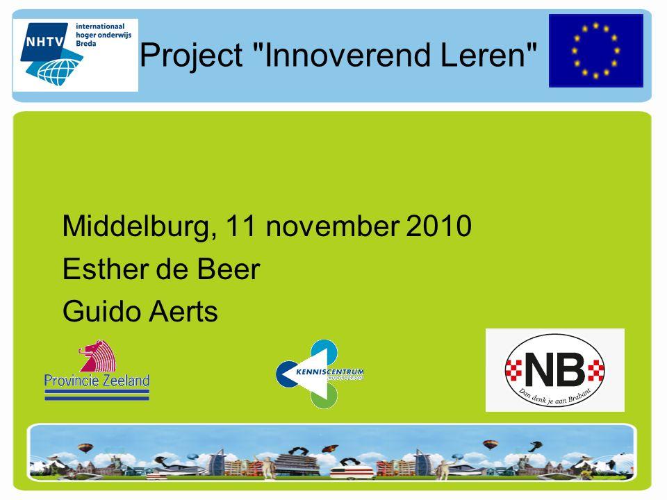 Project Innoverend Leren De naam van het project is nog under construction