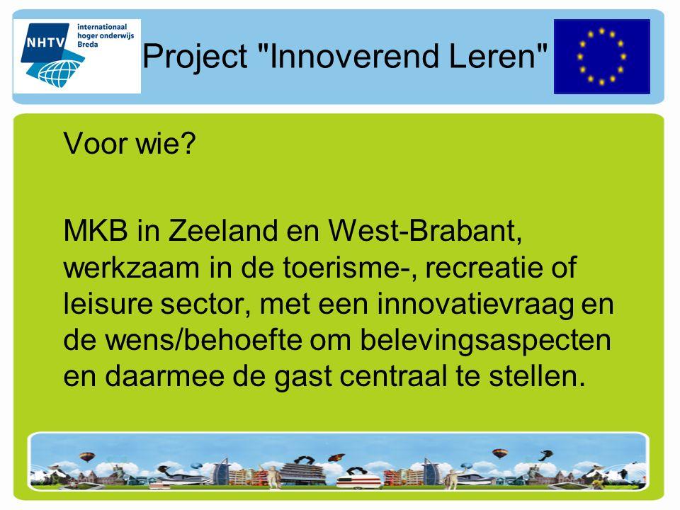 Project Innoverend Leren Voor wie.