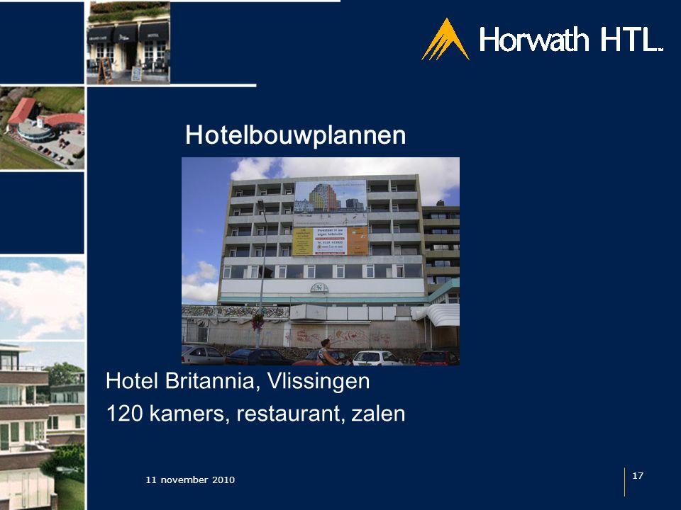 Hotelbouwplannen 11 november 2010 17 Hotel Britannia, Vlissingen 120 kamers, restaurant, zalen