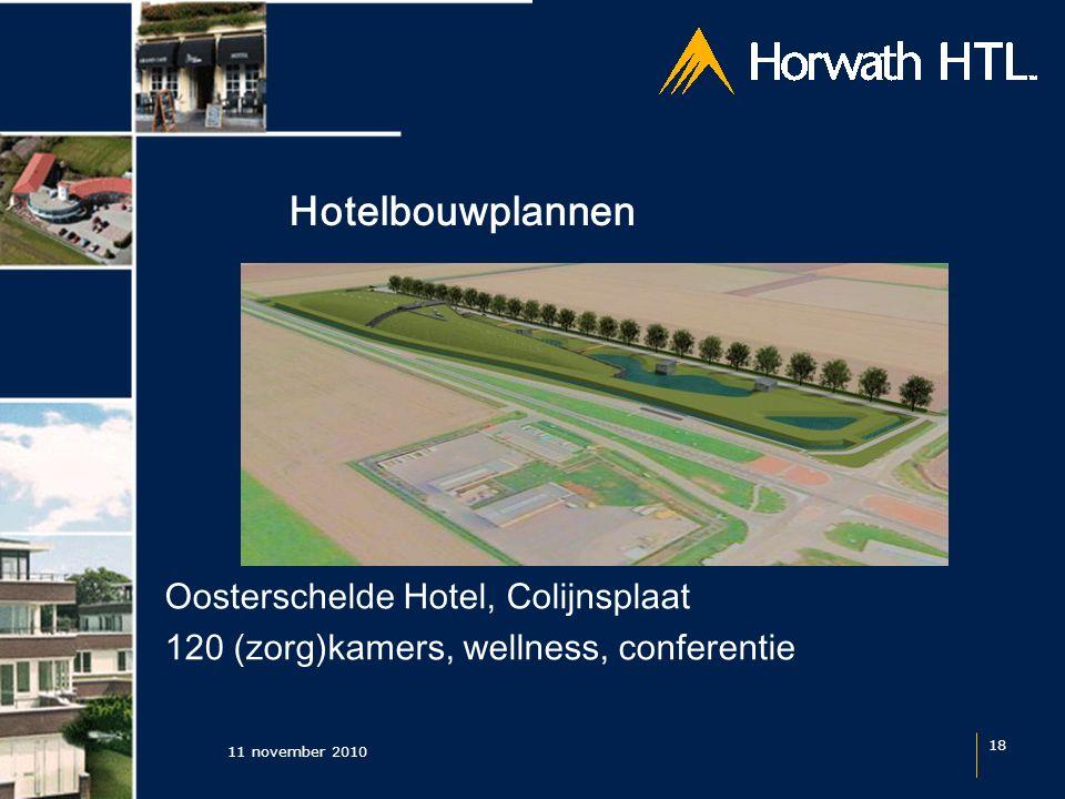 Hotelbouwplannen 11 november 2010 18 Oosterschelde Hotel, Colijnsplaat 120 (zorg)kamers, wellness, conferentie