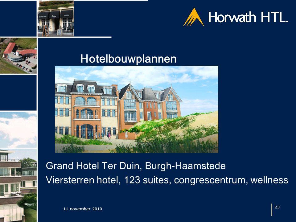 Hotelbouwplannen 11 november 2010 23 Grand Hotel Ter Duin, Burgh-Haamstede Viersterren hotel, 123 suites, congrescentrum, wellness