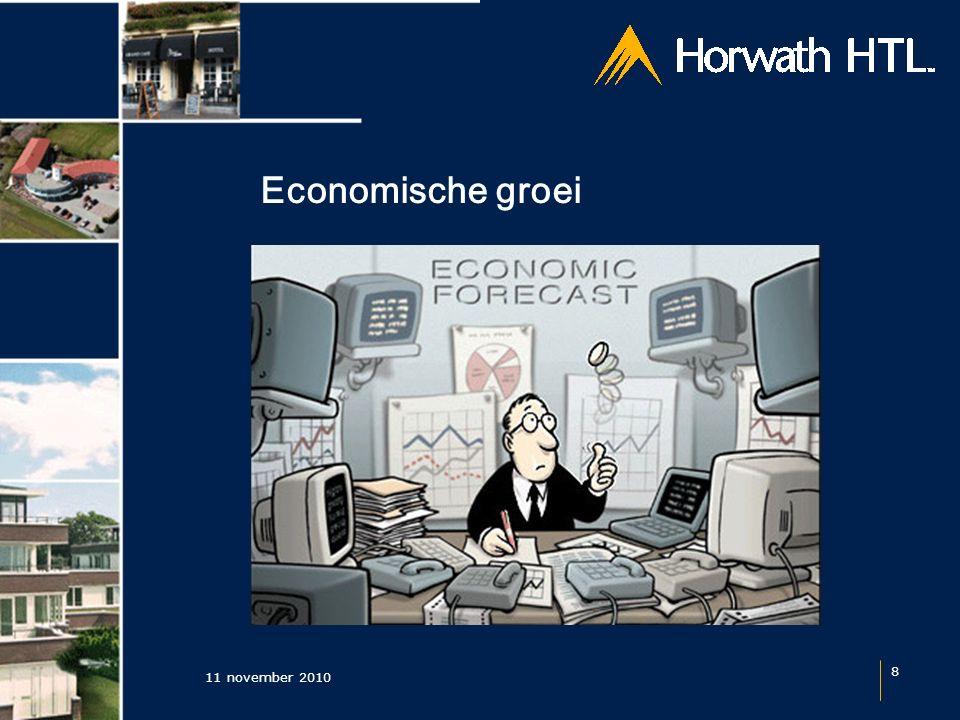 11 november 2010 8 Economische groei