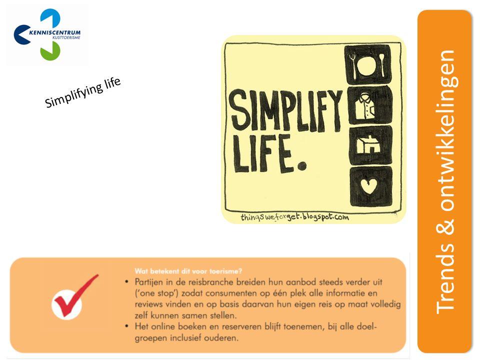 Trends & ontwikkelingen Simplifying life