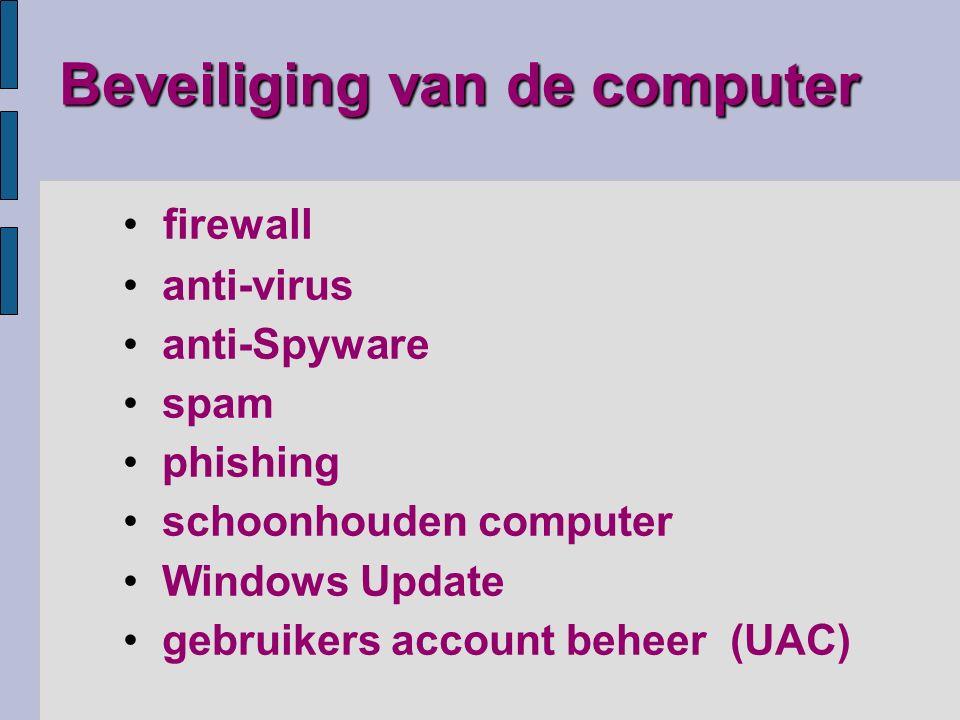 hardware-firewall software-firewall (Comodo) combinatie met antivirus (Comodo)Comodo Firewall zet poorten open of dicht voor verkeer met de 'buitenwereld' niveaus van beveiliging instellen (inkomend/uitgaand) Windows 7 firewall Windows 7 firewall Windows 7 firewall is redelijk goedWindows 7 firewall