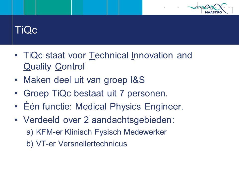 TiQc TiQc staat voor Technical Innovation and Quality Control Maken deel uit van groep I&S Groep TiQc bestaat uit 7 personen.